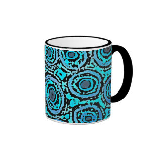 Graphic Circles - BLUE Ringer Mug