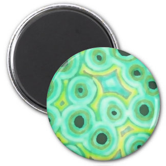 Graphic Circles GREEN Magnet