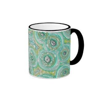 Graphic Circles GREEN Ringer Mug