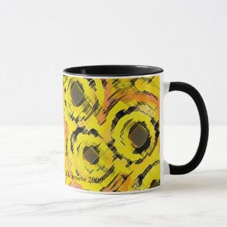 Graphic Circles - YELLOW Mug