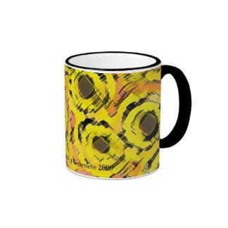 Graphic Circles - YELLOW Ringer Mug