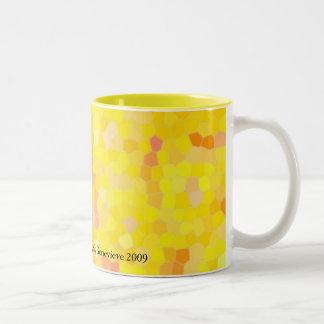Graphic Circles - YELLOW Two-Tone Coffee Mug