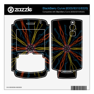 Graphic Colorful  Blossum BlackBerry Curve Skins