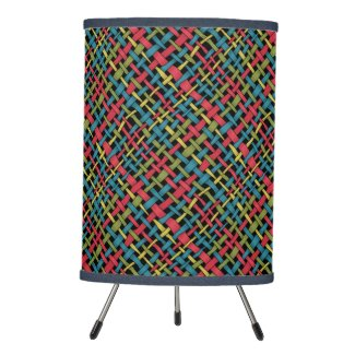 Graphic Colorful Woven Burlap