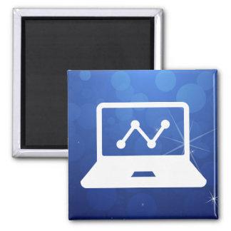Graphic Connectors Pictograph 2 Inch Square Magnet