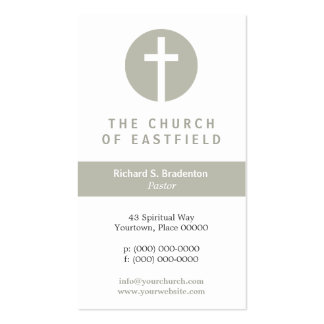 Graphic Cross Taupe Business Cards