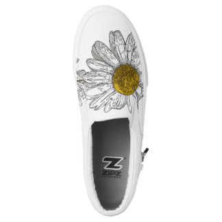 Graphic Daisy Slip on Shoes