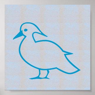 Graphic decorations Sea Beach BIRDS FLY