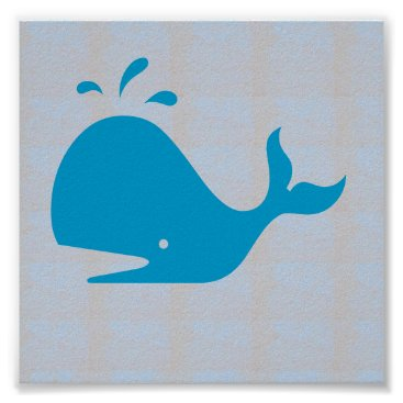 Beach Themed Graphic decorations Sea Beach WHALE FISH DIVE Poster