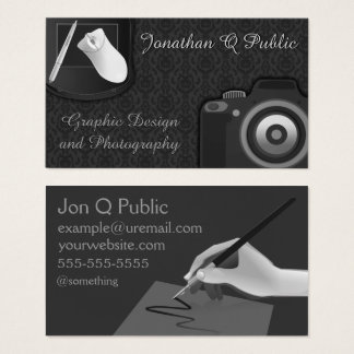 Graphic Design and Photography Business Card