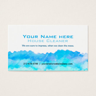 Graphic Design Cleaning business cards