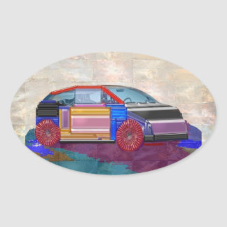 Graphic Design: Exotic Car Oval Sticker