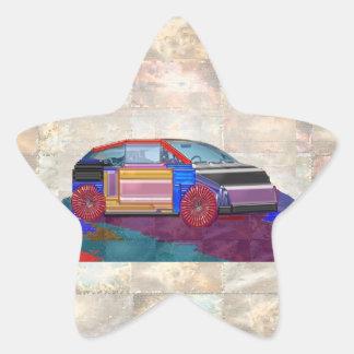 Graphic Design: Exotic Car Star Sticker