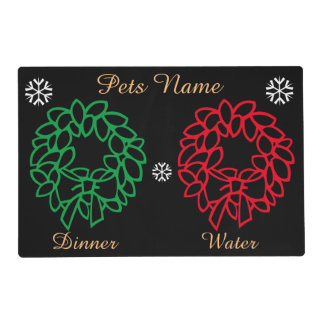 Graphic design festive reef bells pets christmas placemat