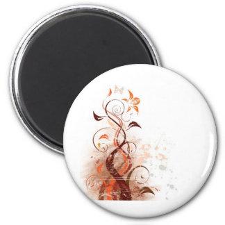 Graphic Design Floral 2 Inch Round Magnet