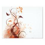 Graphic Design Floral Personalized Invites