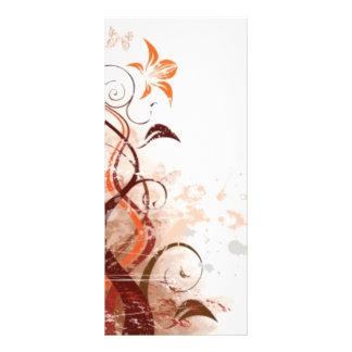 Graphic Design Floral Rack Card