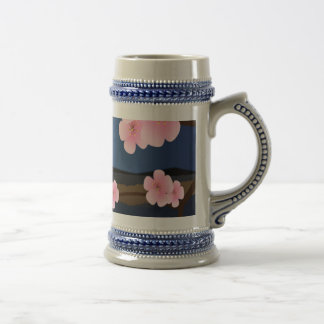 Graphic Design of Cherry Blossom Beer Stein