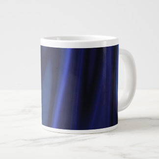 Graphic design of Cobalt Blue Satin Fabric Giant Coffee Mug
