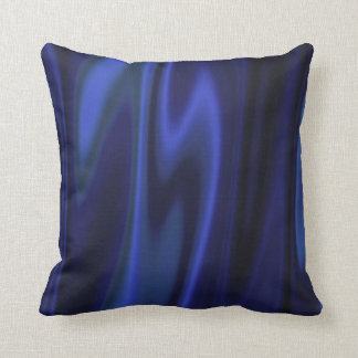 Graphic design of Cobalt Blue Satin Fabric Throw Pillow