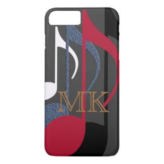 graphic-design of music-notes personalized iPhone 7 plus case