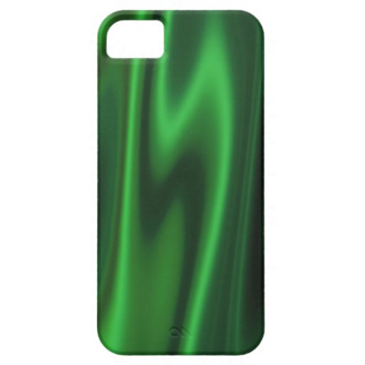 Graphic design of Smooth Green Satin Fabric iPhone SE/5/5s Case