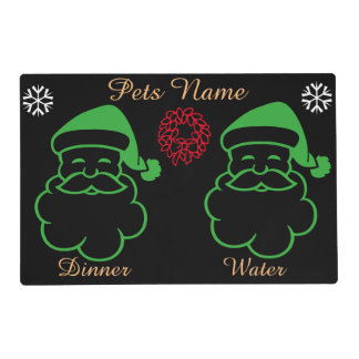 Graphic design santa bells reef pets christmas placemat