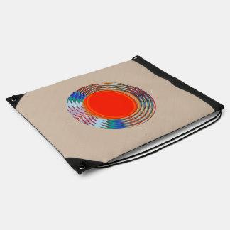 Graphic design shapes curve Birthday HappyBirthday Drawstring Bags