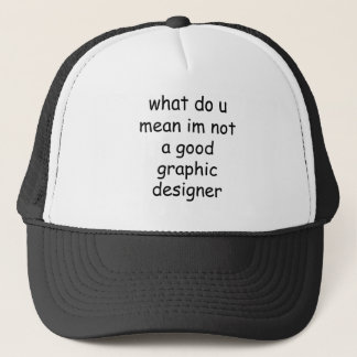 graphic design trucker hat