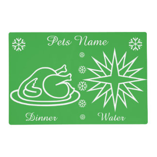Graphic design turkey and star pets christmas placemat