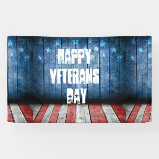 graphic design, us flag colors and decor on wood w banner