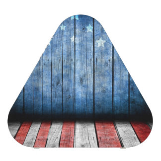 graphic design, us flag colors and decor on wood w speaker