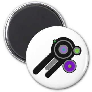 Graphic Design with Circles Art! Magnet