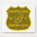 Graphic Designer Drinking League Mouse Pad