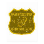Graphic Designer Drinking League Postcard