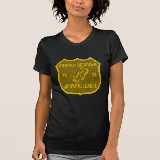 Graphic Designer Drinking League T-Shirt