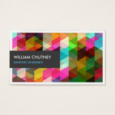 Graphic Designer Modern Colorful Abstract Pattern Business Card at Zazzle