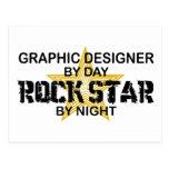 Graphic Designer Rock Star Postcard