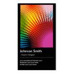 Graphic Designer - Trendy Rainbow Colors Business Card