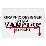 Graphic Designer Vampire by Night Card