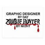 Graphic Designer Zombie Hunter Postcard
