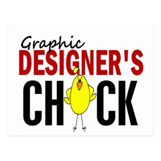 Graphic Designer's Chick Postcard