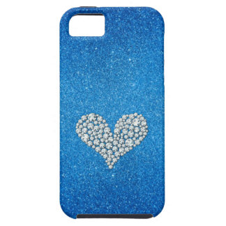 Graphic Diamond Heart Glitter Background iPhone 5 Cover