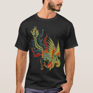 Graphic Dragon with  Rooster Head T-Shirt