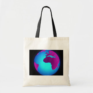 Graphic Earth over black background Bag