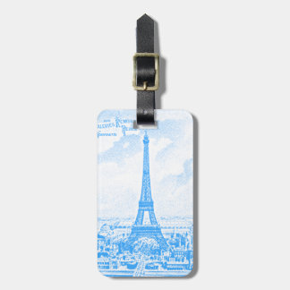 Graphic Eiffel Tower Tags For Luggage