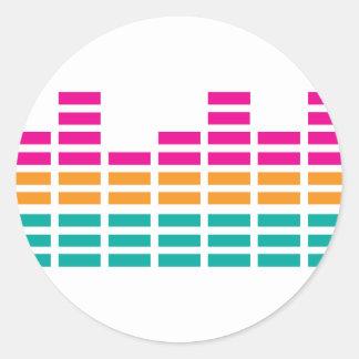 Graphic Equaliser Stereo Hi-Fi Classic Round Sticker