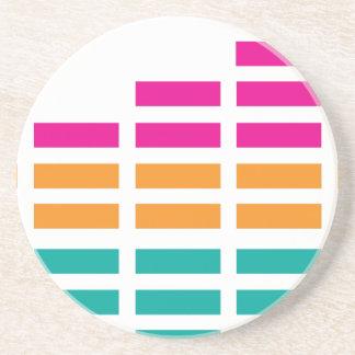 Graphic Equaliser Stereo Hi-Fi Drink Coaster
