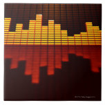 Graphic Equalizer Display Large Square Tile