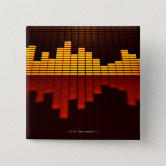 Graphic Equalizer Display Pinback Button